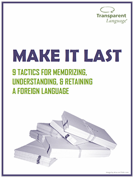 Make It Last: 9 Tactics for Memorizing, Understanding, and Retaining a Foreign Language
