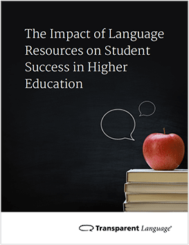 The Impact of Language Resources on Student Success in Higher Education